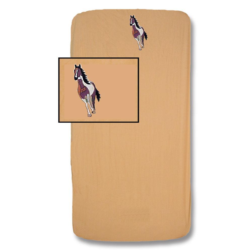 """Wild Horses Crib Sheet 28""""W x 53""""L"""