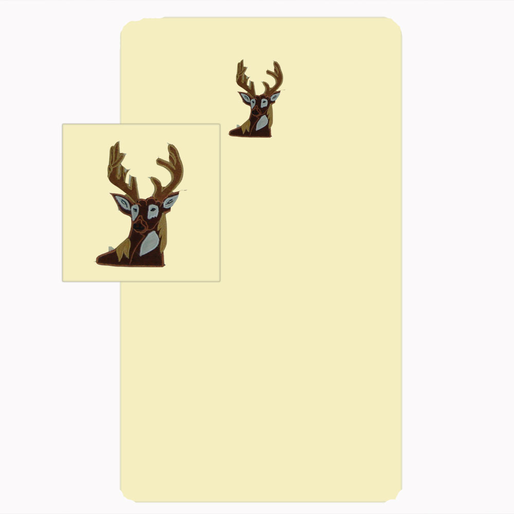 "Whitetail Deer Grove crib sheet set crib 28""w x 53""l"