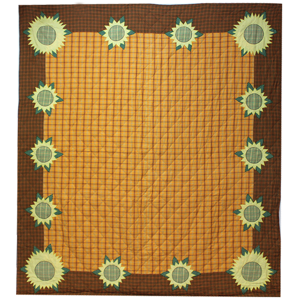 "Sunflower Super King Quilt 110""W x 96""L"