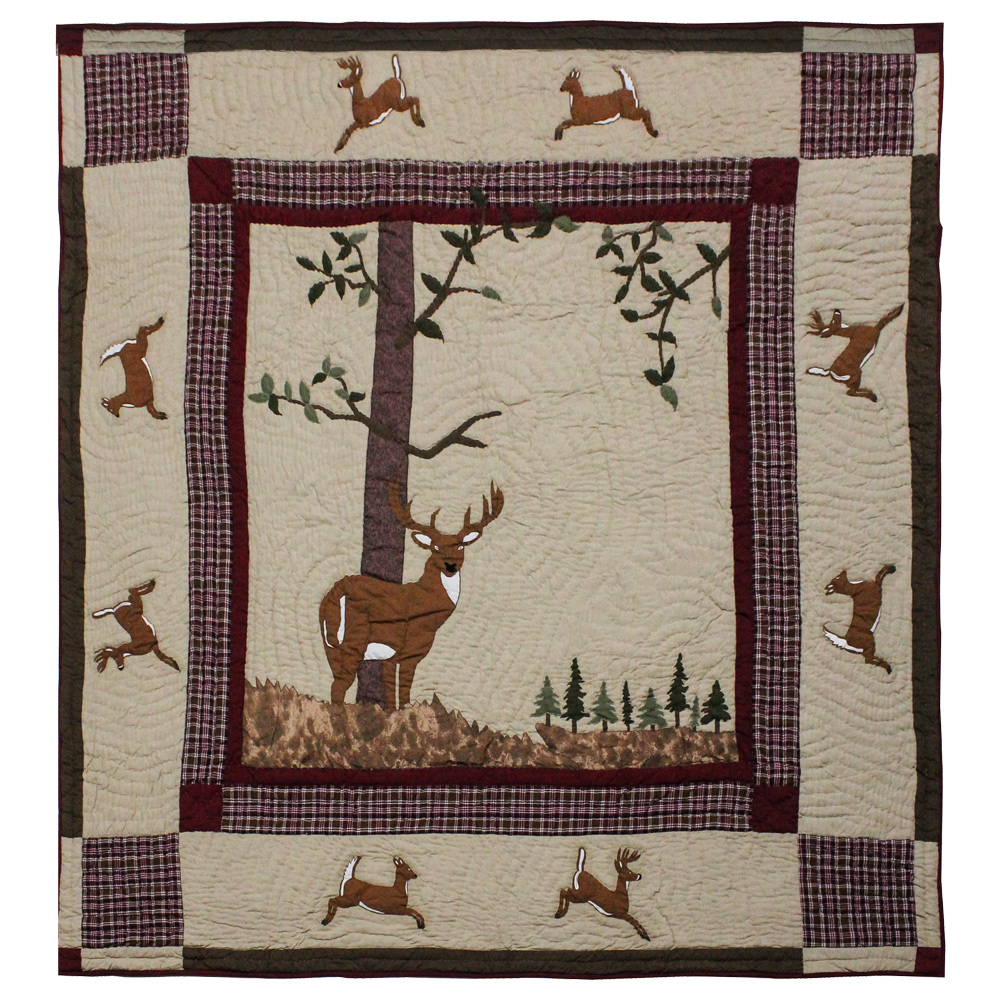 "White Tails Super King Quilt 110""W x 96""L"