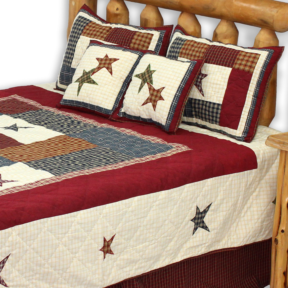 "Woodland Square Super King Quilt 110""W x 96""L"