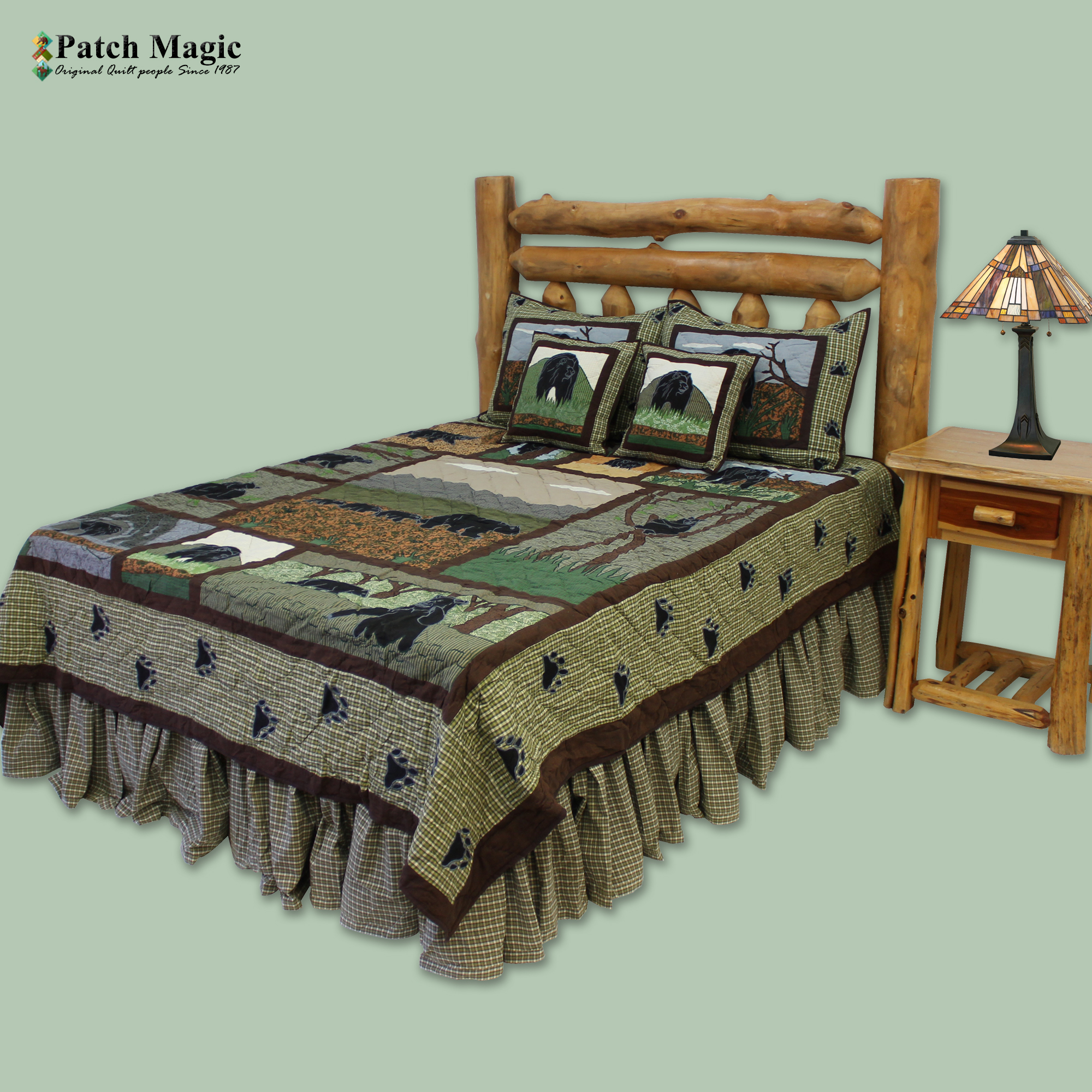 "Bear Country Super Queen Quilt 92""W x 96""L"