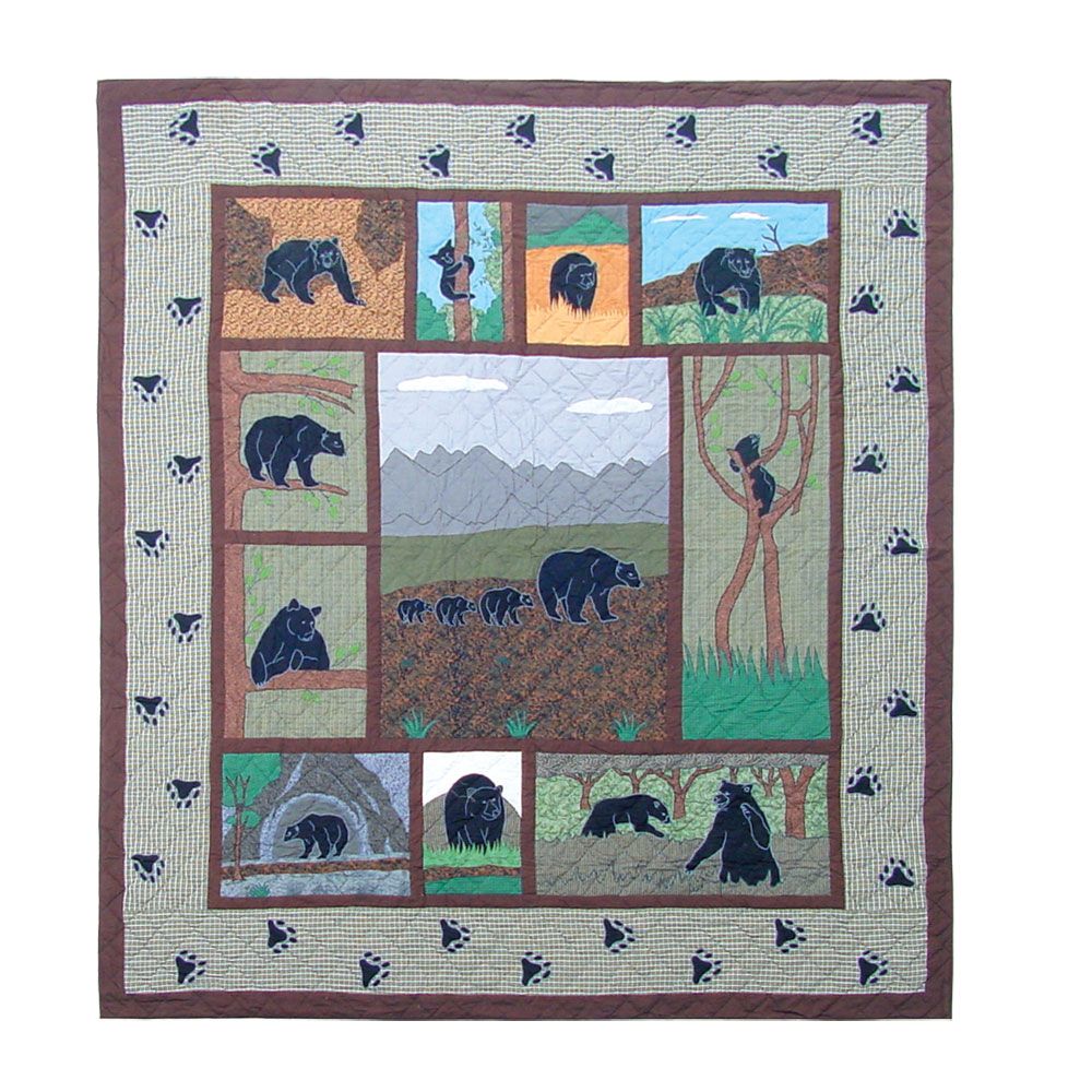 """Bear Country Super Twin Quilt 72""""W x 90""""L"""