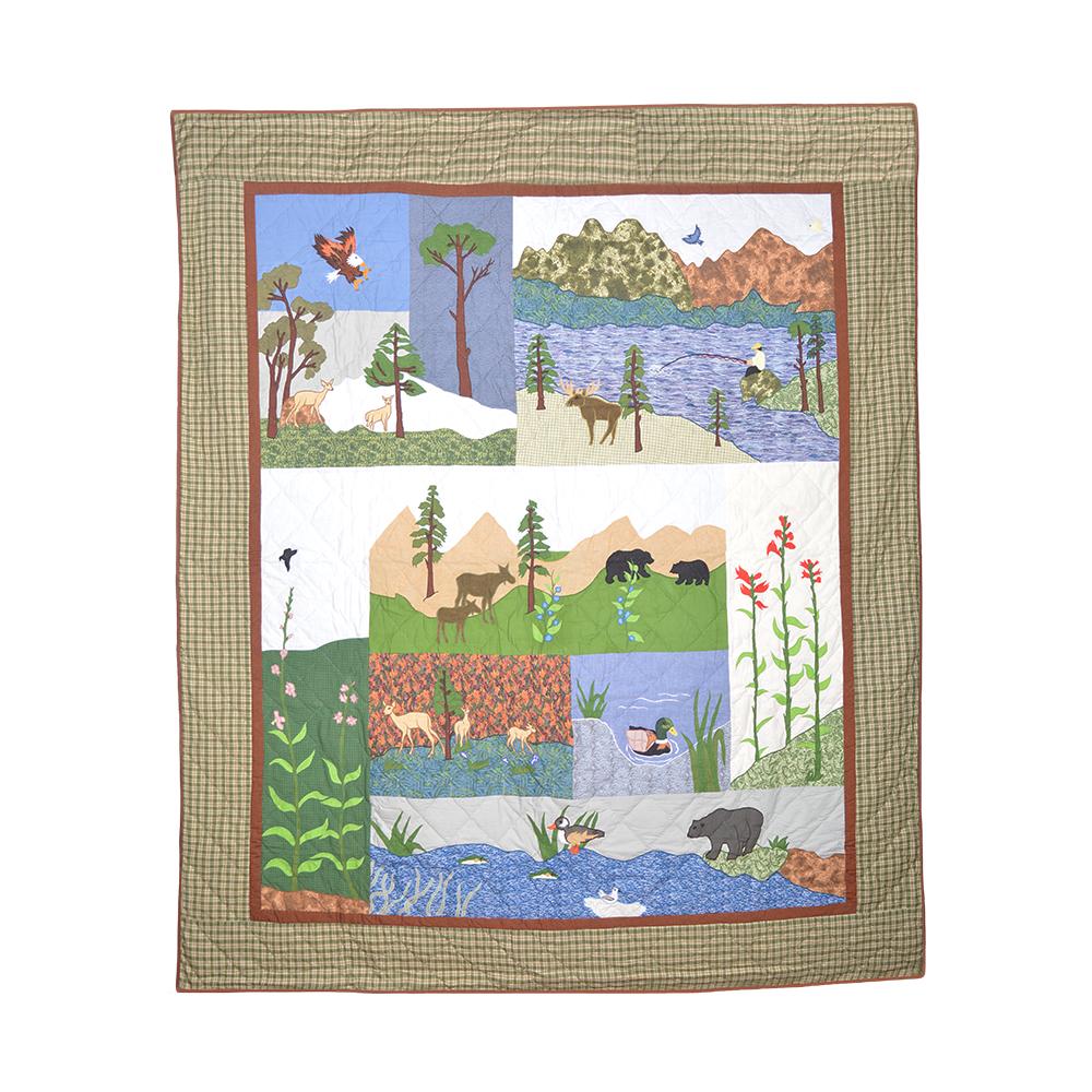 """Natures Splendor super twin quilt 72""""w x 90""""l"""