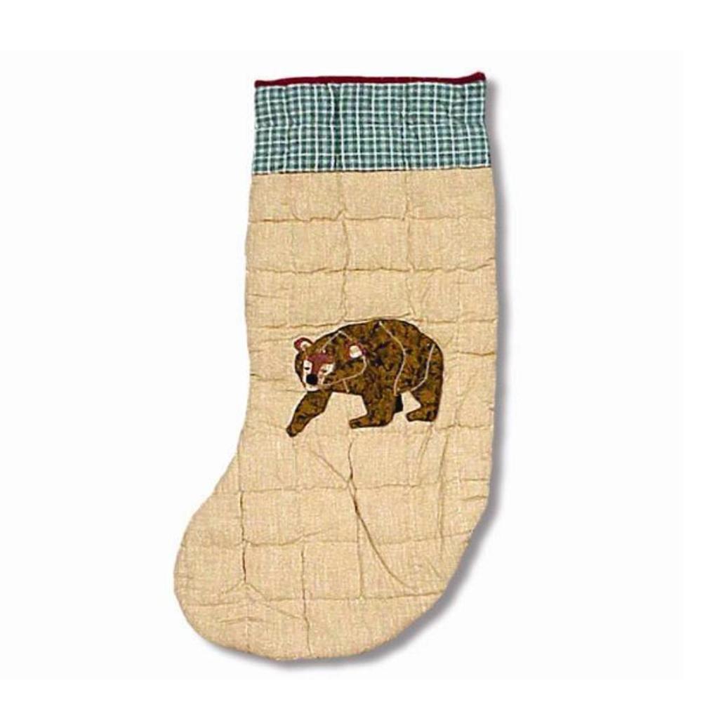 "Cabin Bear Stocking 8""W x 21""L"