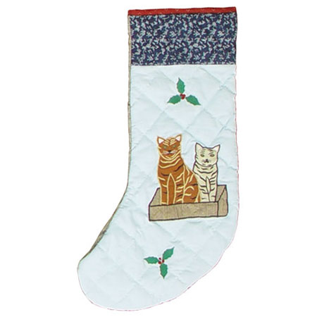 "Cats family Stocking 8""W x 21""L"