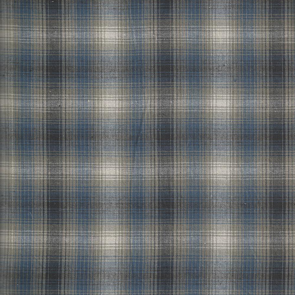 """Blue Black Grey Plaid  Fabric Swatch 4"""" x 4"""""""