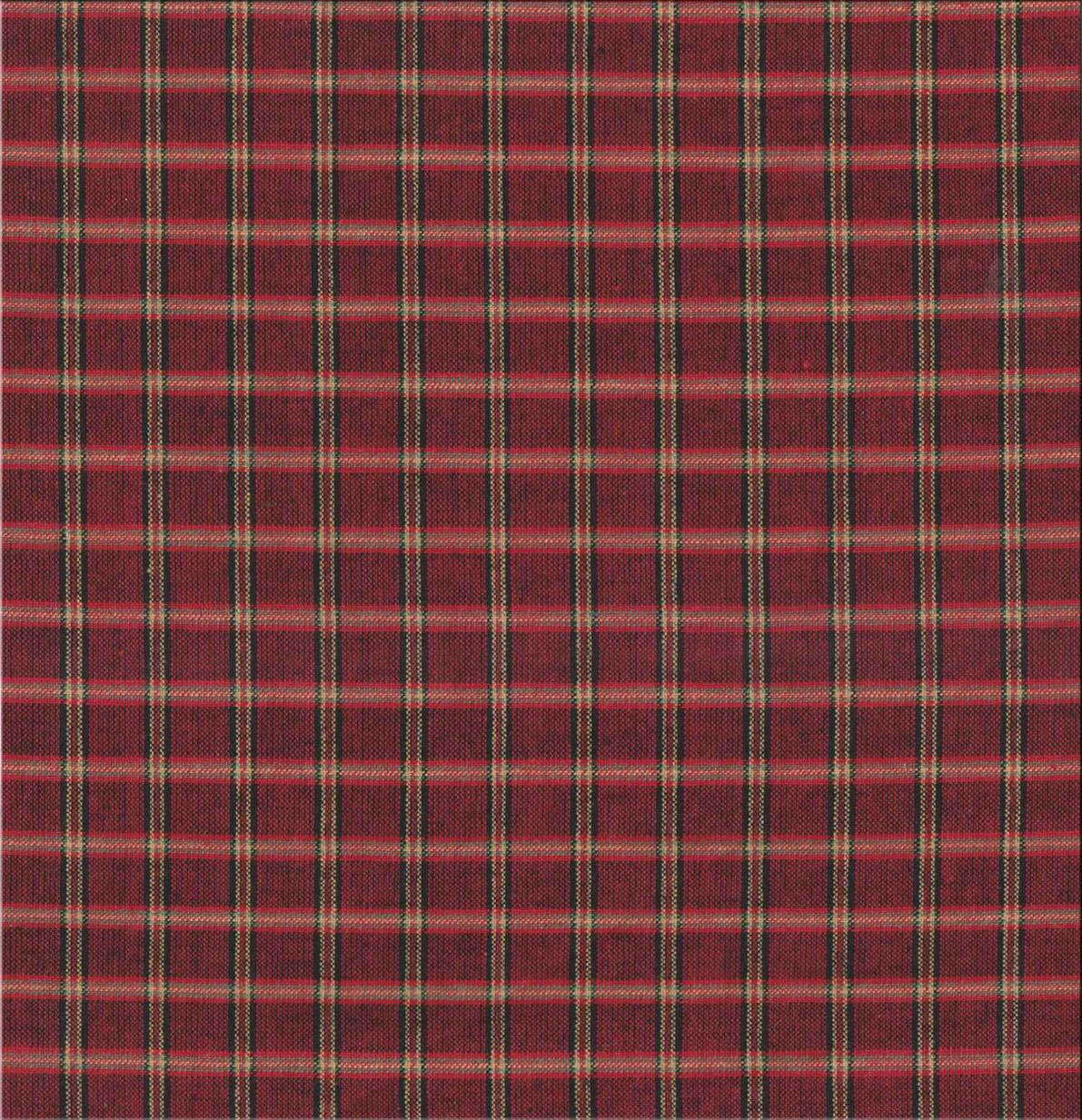 """Rustic Red Large Check Fabric Swatch 4"""" x 4"""""""