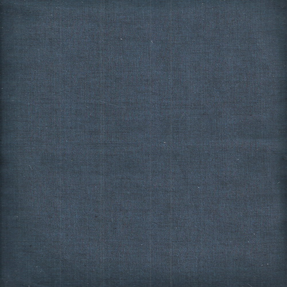 "Dark Spruce Blue Chambray Fabric Swatch 4"" x 4"""
