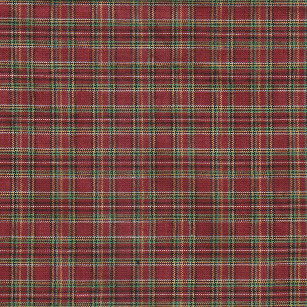 "Red Check Plaid Fabric Swatch 4"" x 4"""