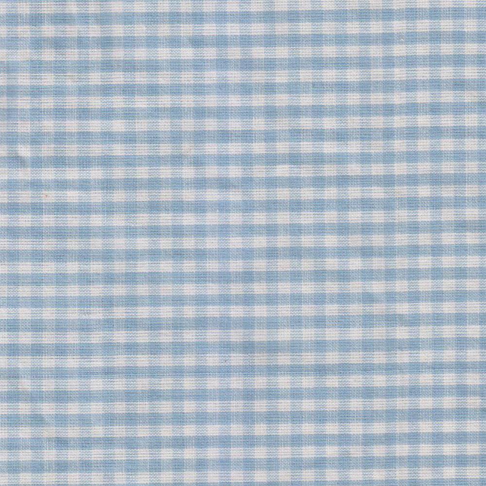 Sky Blue & white gingham checks fabrics by the yard