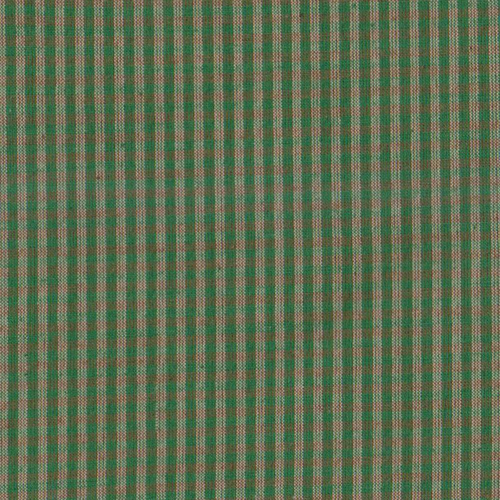 """Green Check Plaid With White Fabric Swatch 4"""" x 4"""""""