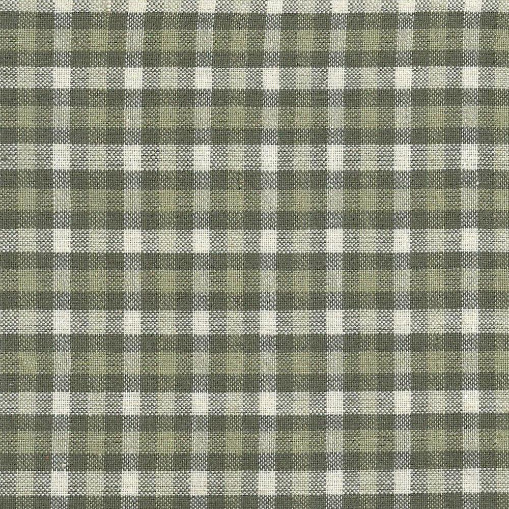 "Olive Green and Ecru Checks Fabric Swatch 4"" x 4"""
