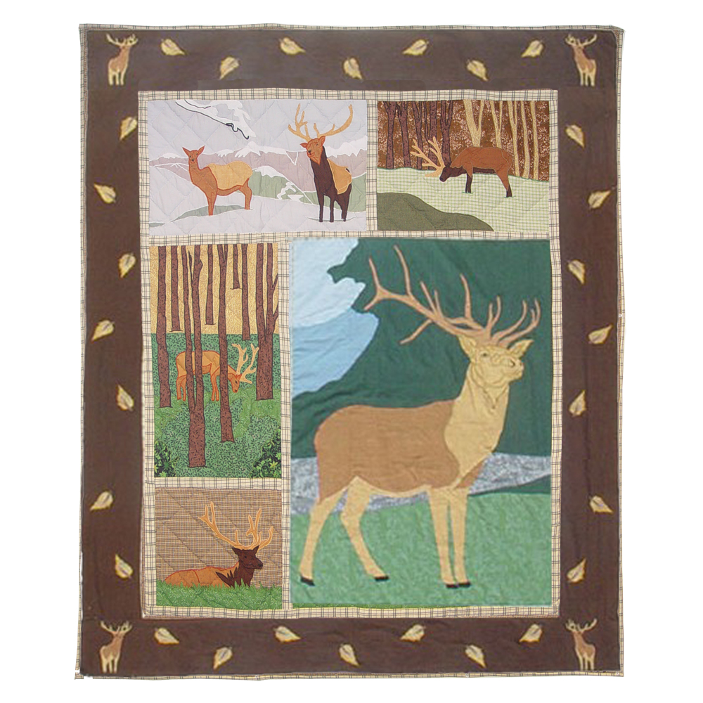 "Brown Elk Throw 50""W x 60""L"