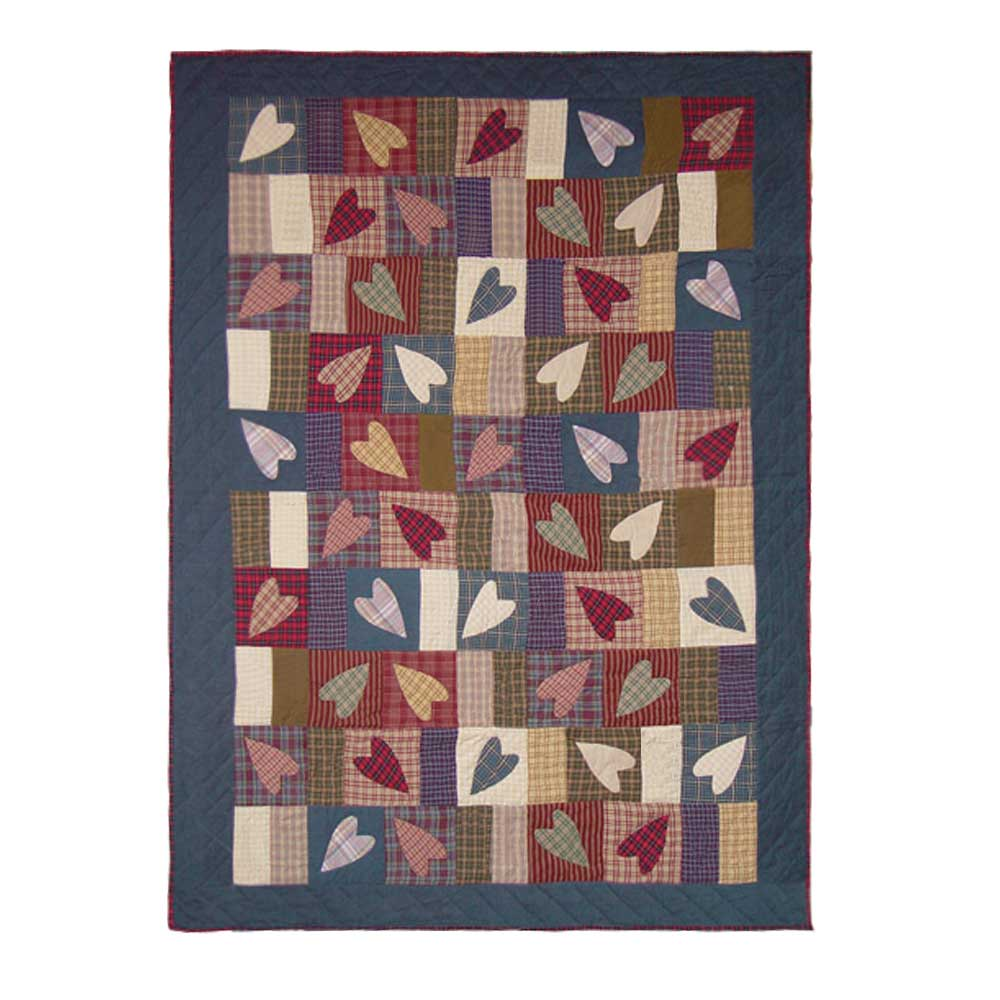 "Country Hearts Throw 50""W x 60""L"