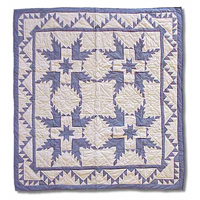 "Feathered Star Throw 50""W x 60""L"