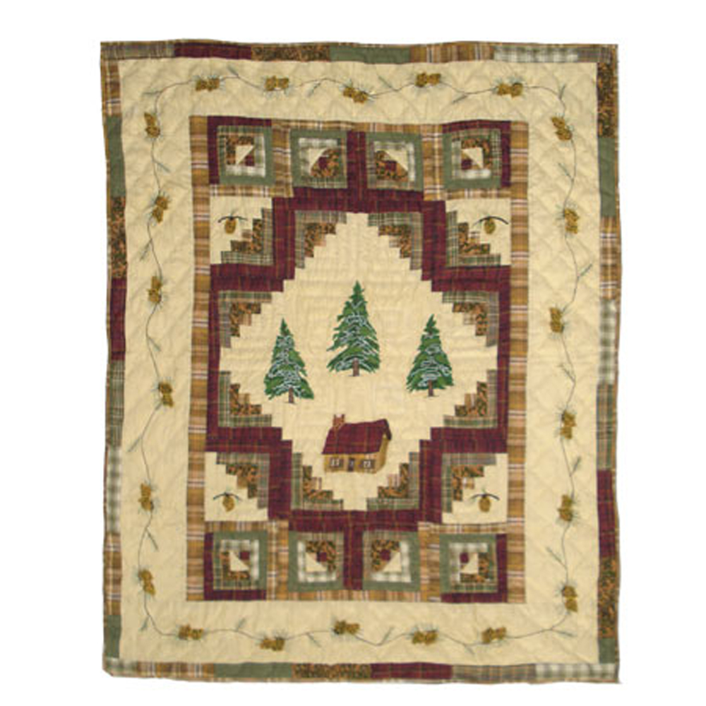 "Forest Log Cabin Throw 50""W x 60""L"