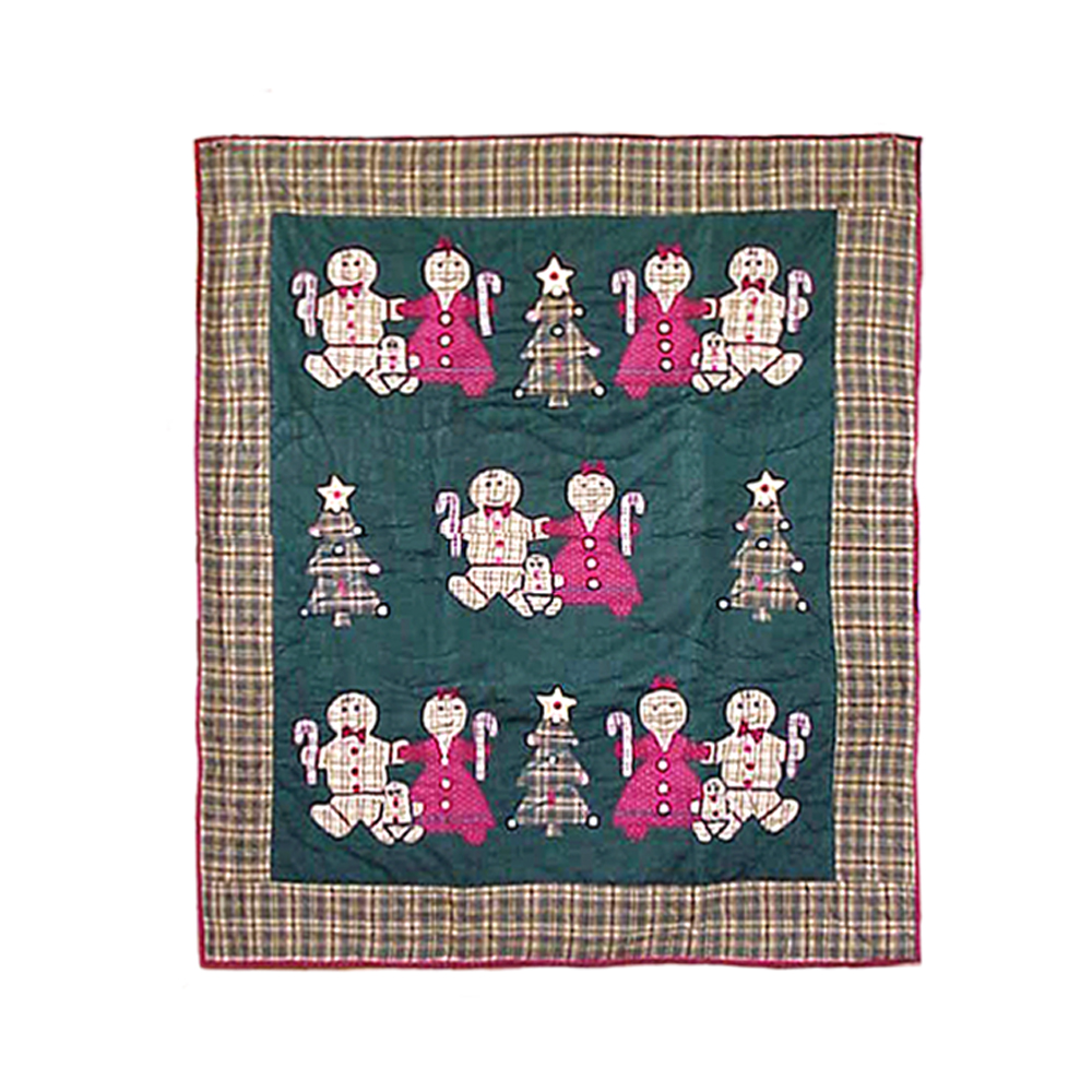 "Gingerbread Family Throw 50""W x 60""L"