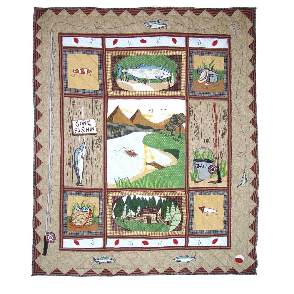 "Gone Fishing Throw 50""W x 60""L"
