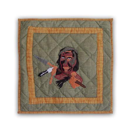 "Indian dancers-indian,Toss Pillow 16""W x 16""L"
