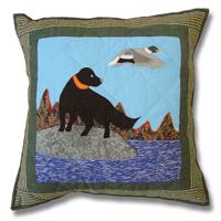 """Mallard Dog Toss Pillow 16""""W x 16""""L"""