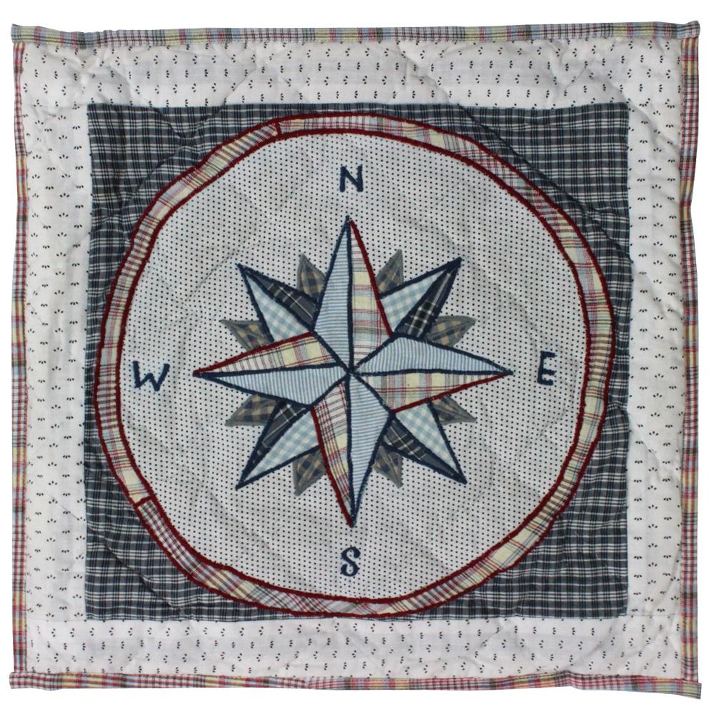 """Nautical Drift compass Toss Pillow 16""""W x 16""""L"""
