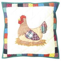 """Rooster hen Toss Pillow 16""""W x 16""""L"""