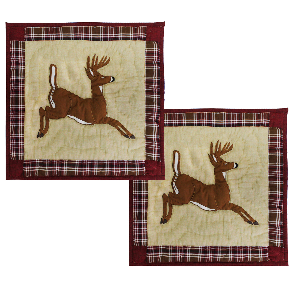 "White Tails Deer Toss Pillow 16""W x 16""L"
