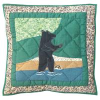 """Wilderness Bear Toss Pillow 16""""W x 16""""L"""