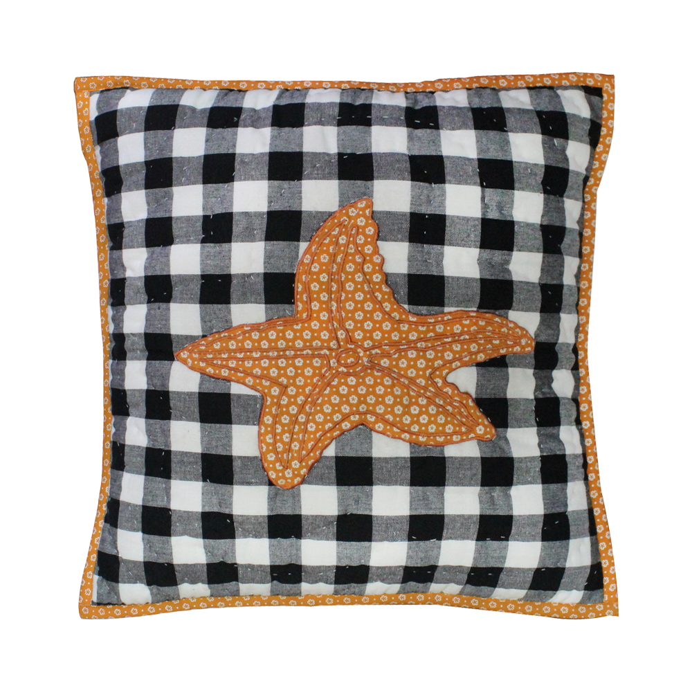 "Orca starfish Toss Pillow 16""W x 16""L"