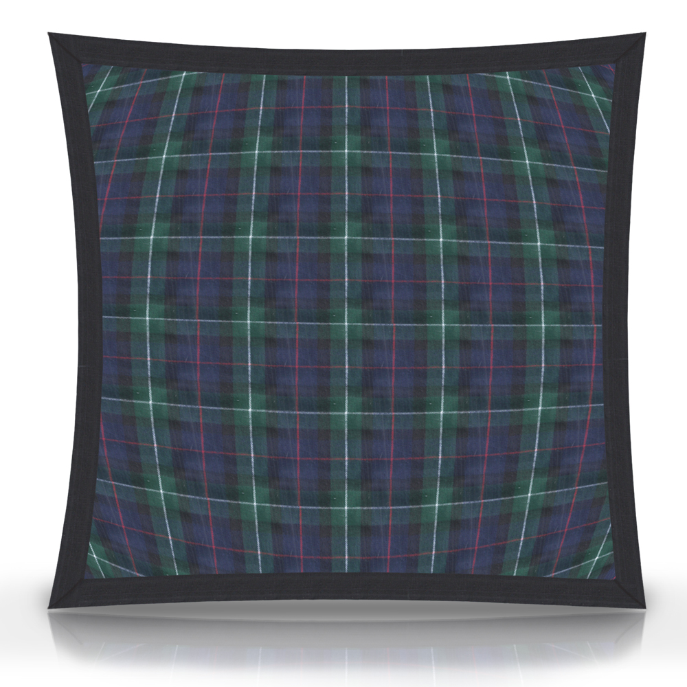 """Tartan Plaid,fabric Toss Pillow 16""""W x 16""""L, flanged"""