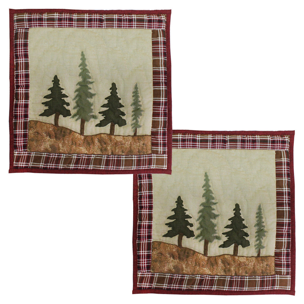 "White Tails Forest Trees Toss Pillow 16""W x 16""L"