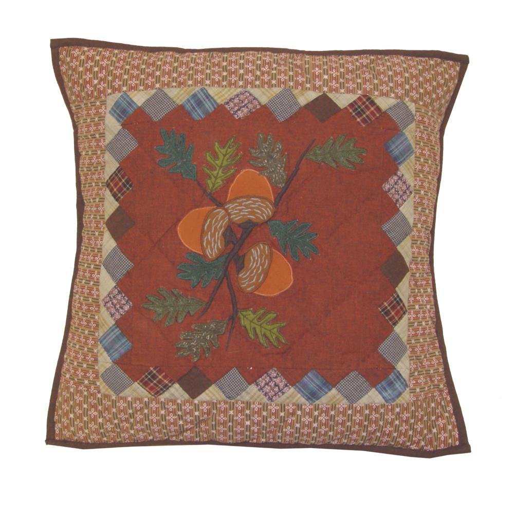 """Acres of Acorns Toss Pillow 16""""W x 16""""L"""