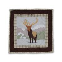 """Brown Elk Toss Pillow 16""""W x 16""""L"""