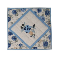 "Tea Roses Toss Pillow 16""W x 16""L"