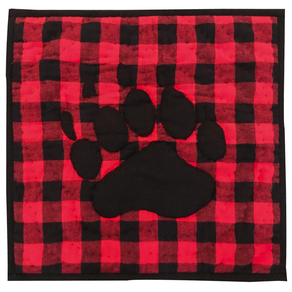 """Bear Track Toss Pillow 16""""W x 16""""L"""