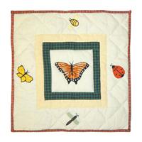 """Bug Garden Toss Pillow 16""""W x 16""""L"""