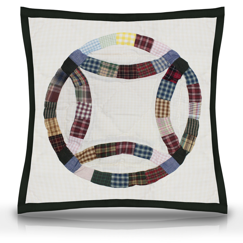 """Country Wedding Ring Toss Pillow 16""""W x 16""""L"""
