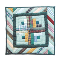 "Diamond Log Cabin Toss Pillow 16""W x 16""L"