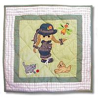 "Doll Toss Pillow 16""W x 16""L"
