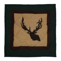 "Elk Trail Toss Pillow 16""W x 16""L"