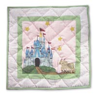 "Fairy Tale Princess Toss Pillow 16""W x 16""L"