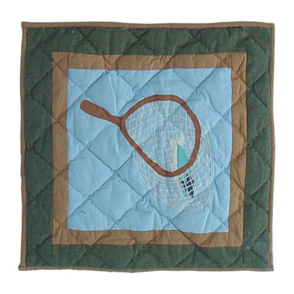 "Fly Fishing Toss Pillow 16""W x 16""L"