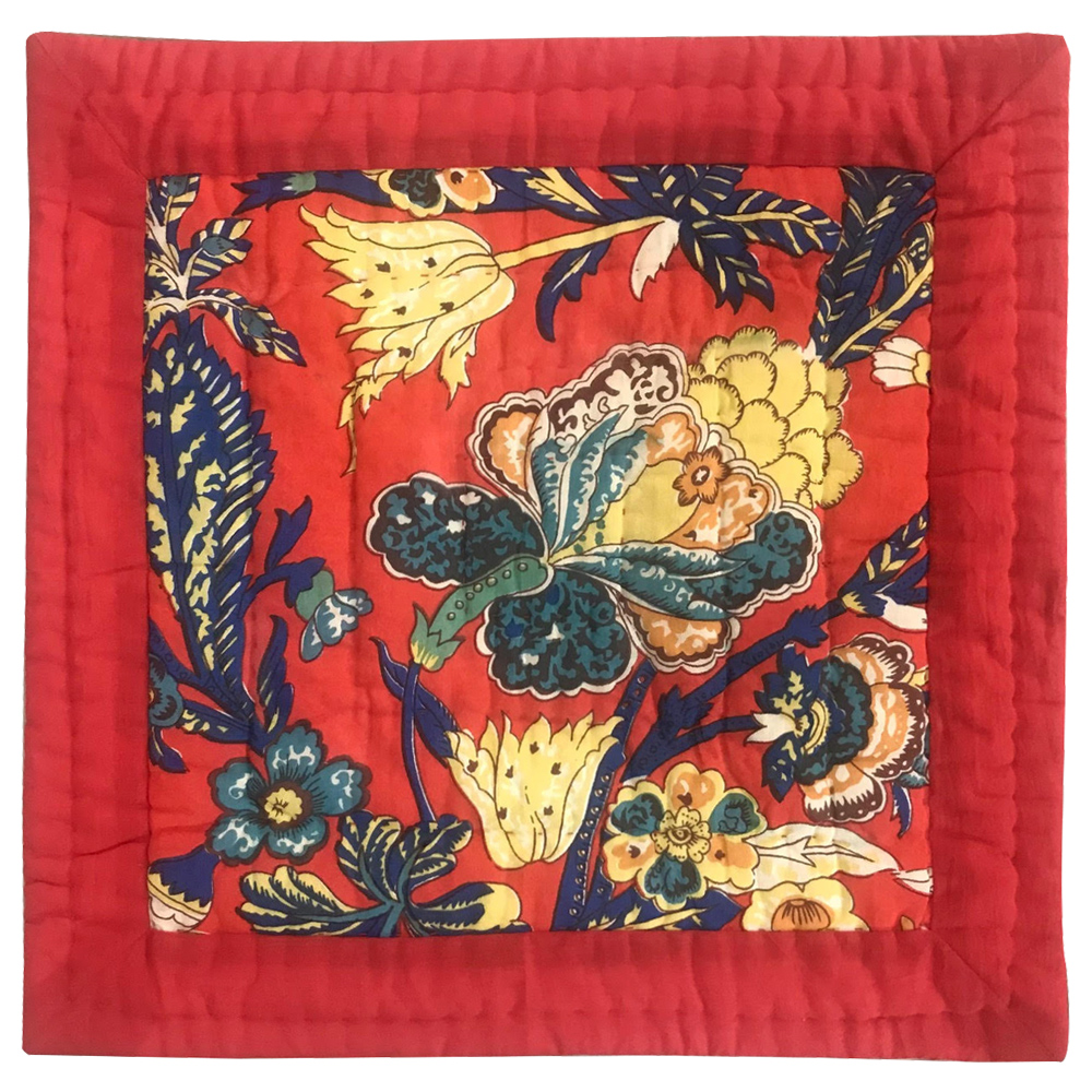 """French Red Swathe Toss Pillow 16""""W x 16""""L"""