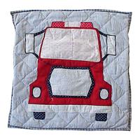 """Fire Truck Toss Pillow 16""""W x 16""""L"""