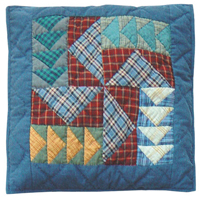 "Fall Windmills Toss Pillow 16""W x 16""L"