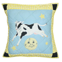 "Hey Diddle Diddle Toss Pillow 16""W x 16""L"
