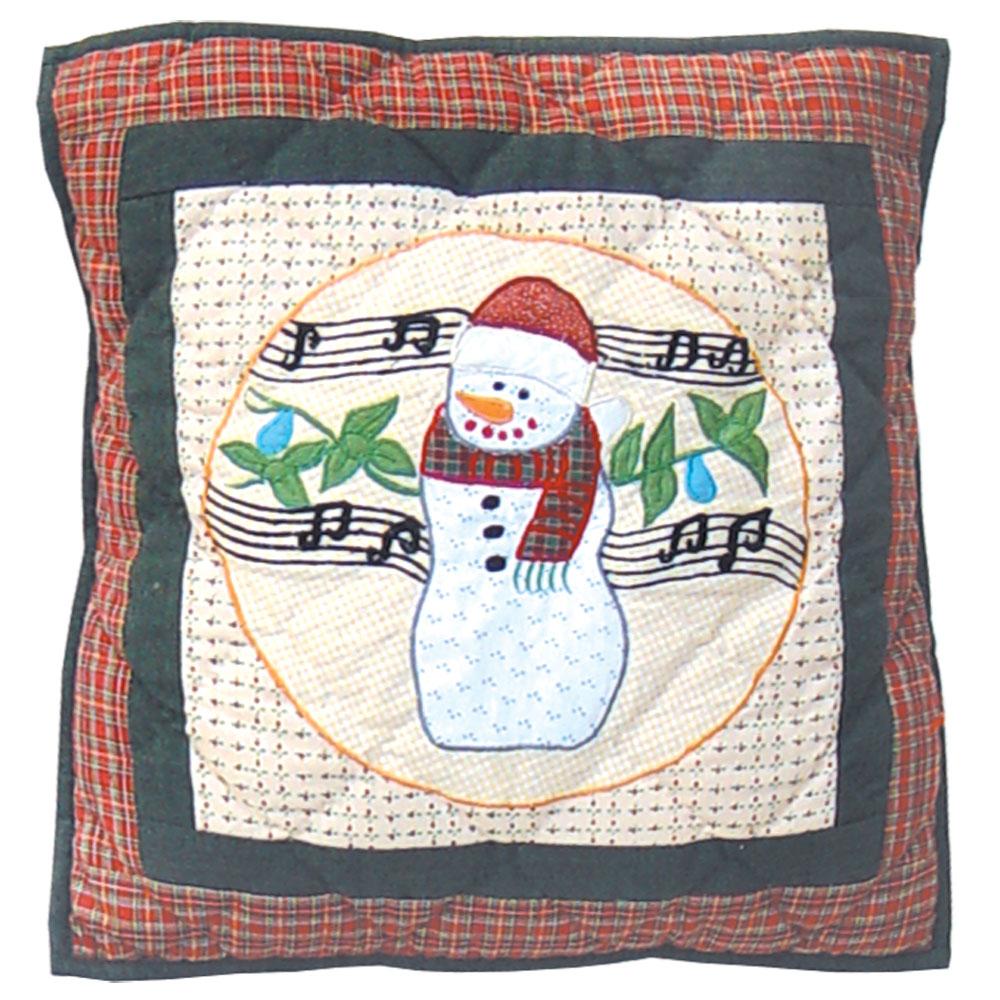 """Jolly Snowmen Toss Pillow 16""""W x 16""""L"""