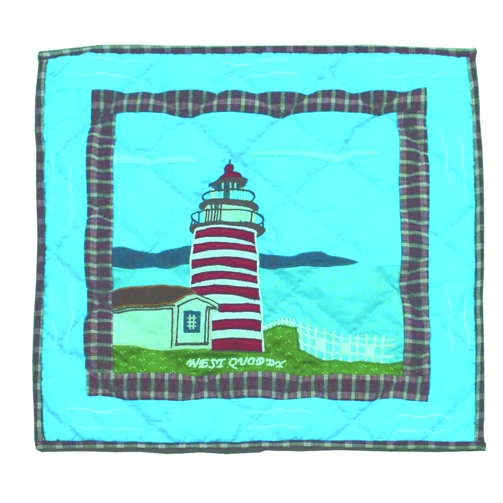 "Lighthouse Gallery Toss Pillow 16""W x 16""L"