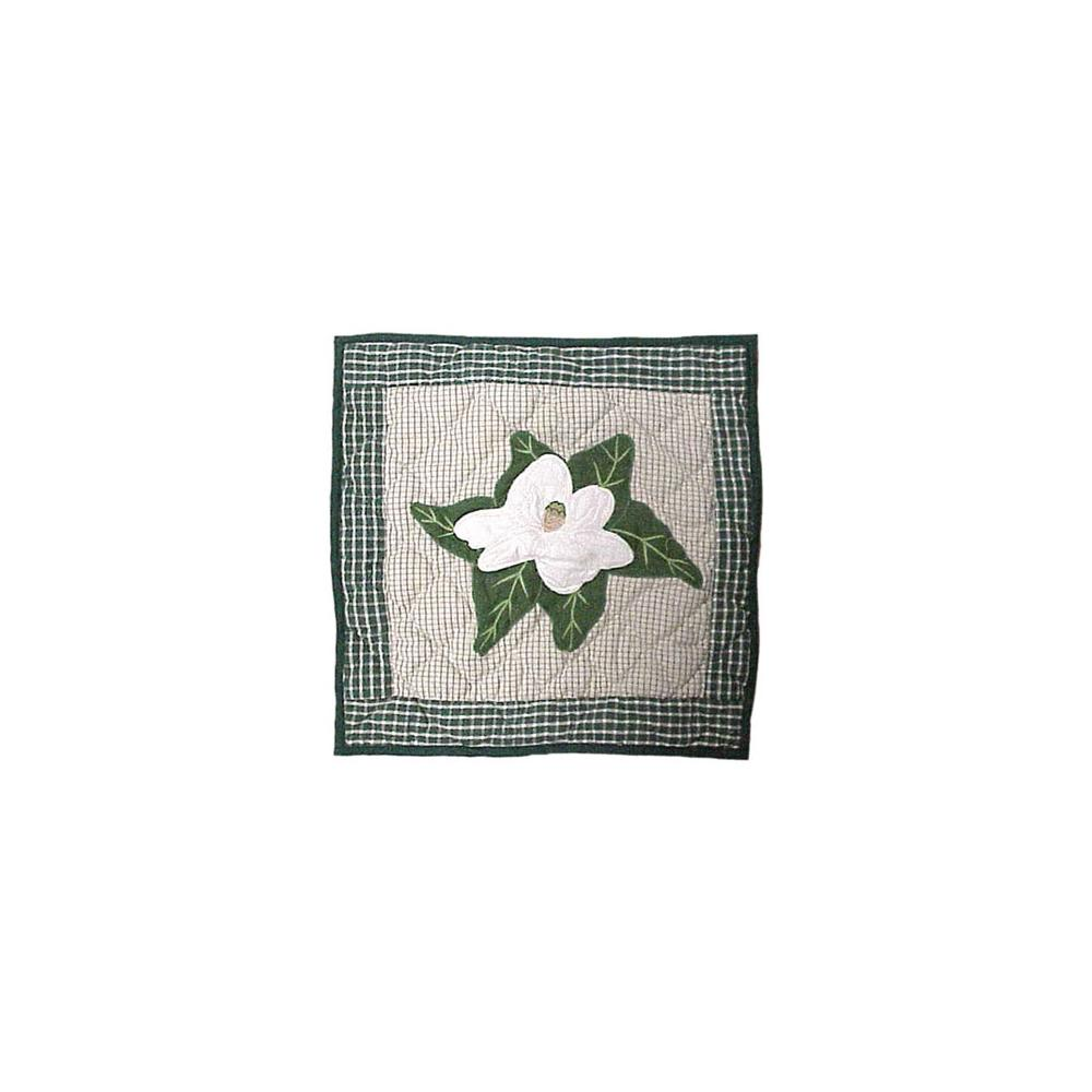 "Magnolia Blossoms Toss Pillow 16""W x 16""L"